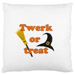 Twerk or treat - Funny Halloween design Large Flano Cushion Case (One Side)