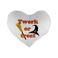 Twerk Or Treat   Funny Halloween Design Standard 16  Premium Flano Heart Shape Cushions