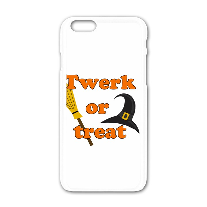 Twerk or treat - Funny Halloween design Apple iPhone 6/6S White Enamel Case