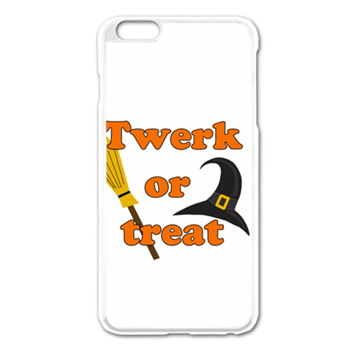 Twerk or treat - Funny Halloween design Apple iPhone 6 Plus/6S Plus Enamel White Case