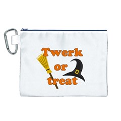 Twerk Or Treat   Funny Halloween Design Canvas Cosmetic Bag (l) by Valentinaart