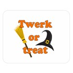 Twerk or treat - Funny Halloween design Double Sided Flano Blanket (Large)