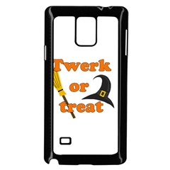 Twerk Or Treat   Funny Halloween Design Samsung Galaxy Note 4 Case (black)