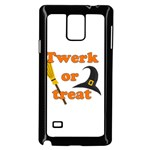 Twerk or treat - Funny Halloween design Samsung Galaxy Note 4 Case (Black) Front