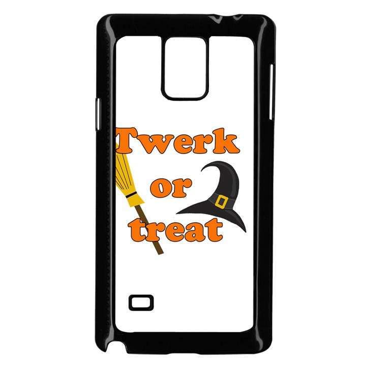 Twerk or treat - Funny Halloween design Samsung Galaxy Note 4 Case (Black)