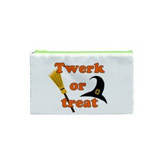 Twerk Or Treat   Funny Halloween Design Cosmetic Bag (xs) by Valentinaart