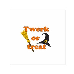 Twerk Or Treat   Funny Halloween Design Small Satin Scarf (square) by Valentinaart