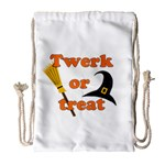 Twerk or treat - Funny Halloween design Drawstring Bag (Large)