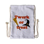 Twerk or treat - Funny Halloween design Drawstring Bag (Small)