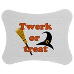 Twerk or treat - Funny Halloween design Jigsaw Puzzle Photo Stand (Bow)