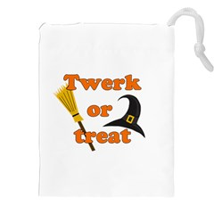 Twerk Or Treat   Funny Halloween Design Drawstring Pouches (xxl) by Valentinaart