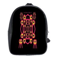 Alphabet Shirt School Bags(Large)