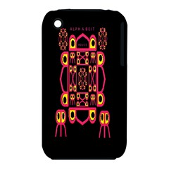 Alphabet Shirt Apple Iphone 3g/3gs Hardshell Case (pc+silicone) by MRTACPANS