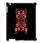 Alphabet Shirt Apple iPad 3/4 Case (Black) Front