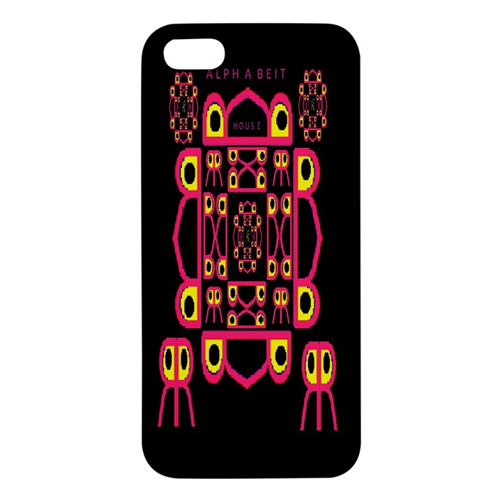 Alphabet Shirt Apple iPhone 5 Premium Hardshell Case