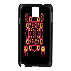 Alphabet Shirt Samsung Galaxy Note 3 N9005 Case (black)