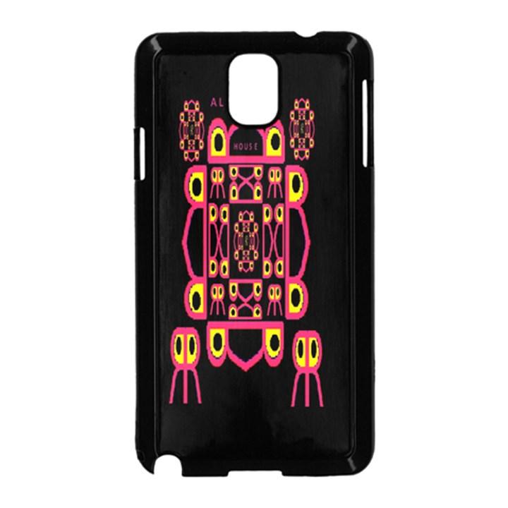 Alphabet Shirt Samsung Galaxy Note 3 Neo Hardshell Case (Black)