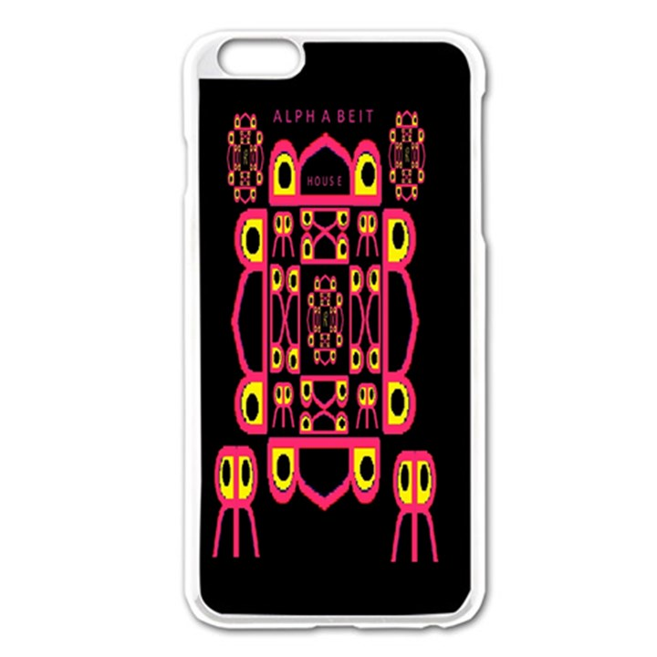 Alphabet Shirt Apple iPhone 6 Plus/6S Plus Enamel White Case