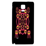 Alphabet Shirt Galaxy Note 4 Back Case Front