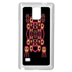 Alphabet Shirt Samsung Galaxy Note 4 Case (White)