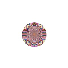 Pastel Shades Ornamental Flower 1  Mini Magnets by designworld65
