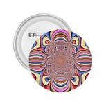 Pastel Shades Ornamental Flower 2.25  Buttons