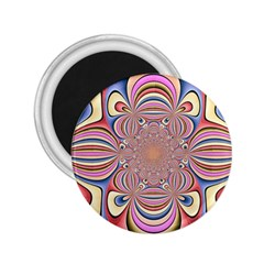 Pastel Shades Ornamental Flower 2 25  Magnets by designworld65