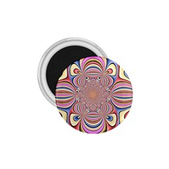 Pastel Shades Ornamental Flower 1 75  Magnets by designworld65