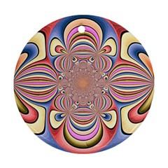 Pastel Shades Ornamental Flower Ornament (Round)