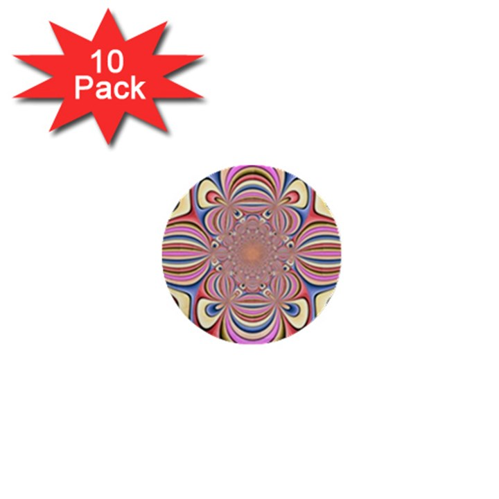 Pastel Shades Ornamental Flower 1  Mini Buttons (10 pack)