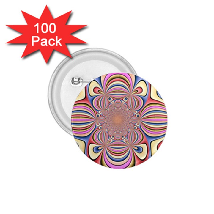 Pastel Shades Ornamental Flower 1.75  Buttons (100 pack)