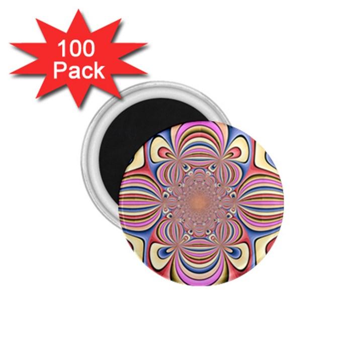 Pastel Shades Ornamental Flower 1.75  Magnets (100 pack)