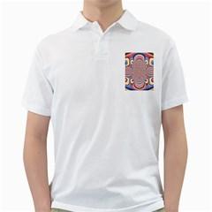 Pastel Shades Ornamental Flower Golf Shirts