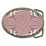 Pastel Shades Ornamental Flower Belt Buckles