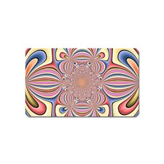 Pastel Shades Ornamental Flower Magnet (name Card)