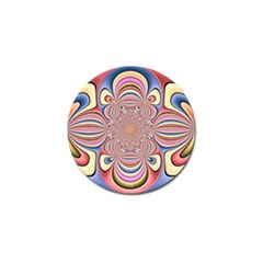 Pastel Shades Ornamental Flower Golf Ball Marker