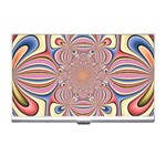 Pastel Shades Ornamental Flower Business Card Holders