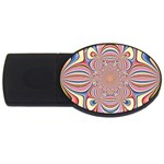 Pastel Shades Ornamental Flower USB Flash Drive Oval (2 GB)