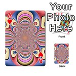 Pastel Shades Ornamental Flower Playing Cards 54 Designs  Front - HeartA