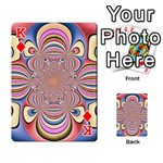 Pastel Shades Ornamental Flower Playing Cards 54 Designs  Front - DiamondK