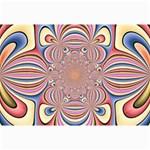 Pastel Shades Ornamental Flower Collage Prints 18 x12 Print - 1