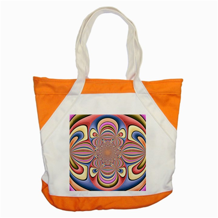 Pastel Shades Ornamental Flower Accent Tote Bag