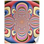 Pastel Shades Ornamental Flower Canvas 16  x 20   20 x16 Canvas - 1