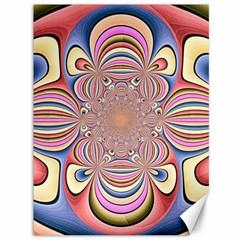 Pastel Shades Ornamental Flower Canvas 36  X 48   by designworld65