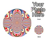 Pastel Shades Ornamental Flower Playing Cards 54 (Round)  Front - Heart8