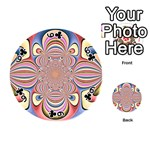 Pastel Shades Ornamental Flower Playing Cards 54 (Round)  Front - Club6