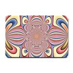 Pastel Shades Ornamental Flower Small Doormat  24 x16 Door Mat - 1