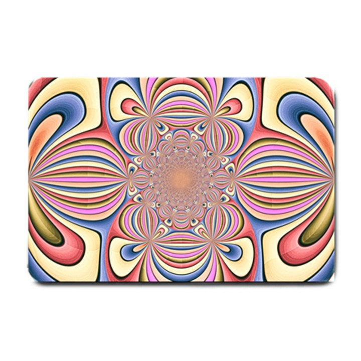 Pastel Shades Ornamental Flower Small Doormat