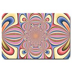 Pastel Shades Ornamental Flower Large Doormat