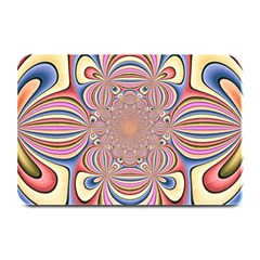 Pastel Shades Ornamental Flower Plate Mats